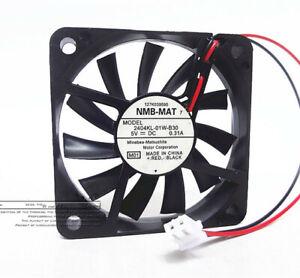 NMB 2404KL-01W-B30 5V 0.31A 6010 6cm 2-pin ultra-thin large air volume fan