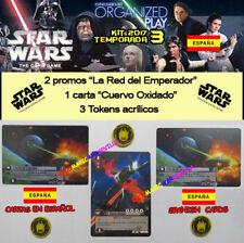 STAR WARS TCG 2017 T3 KIT ESPAÑOL - Cuervo Oxidado + 2 Red Emperador + 3 Tokens