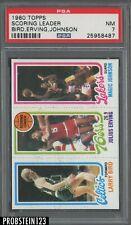 1980 Topps Basketball Larry Bird Magic Johnson RC Rookie Dr. J. HOF PSA 7 NM