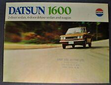 1970 Datsun 1600 Catalog Brochure Sedan Wagon Excellent Original 70 Canadian