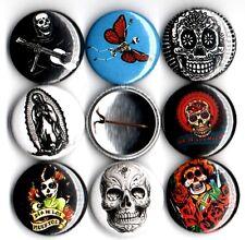 """Dia De Los Muertos 8 NEW 1"""" buttons pins badges day of the dead sugar skulls"""