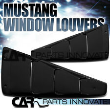Ford 05-14 Mustang GT Roush Black 1/4 Quarter Window Louvers
