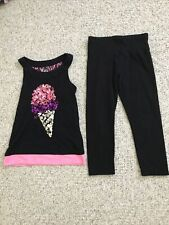 Justice Girls 2 Pc Outfit Size 8