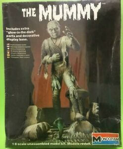 Monogram model The Mummy 1/8 Scale Plastic model hard to find Rare Unopened