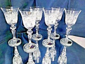 Crystal Glass Set of 6 Liqueur Vodka Sherry 2oz Vintage Hand Cut Bohemia Crystal