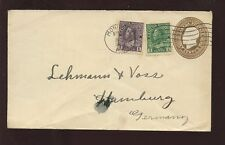 CANADA 1922 STATIONERY 3c KG5 UPRATED 7c to GERMANY