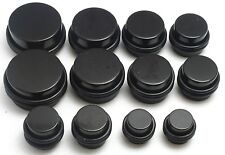 3 PAIRS Black Ear Stretching Plugs 9/16 5/8 3/4 inch gauges 14mm 16mm 19mm set