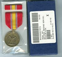 NATIONAL DEFENSE SERVICE MEDAL & RIBBON BAR -  U.S. GI ISSUE set5