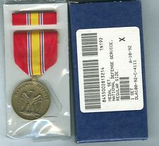 NATIONAL DEFENSE SERVICE MEDAL & RIBBON BAR -  U.S. GI ISSUE set50