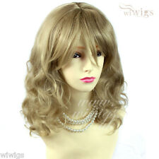 Wiwigs Dark Brown Long Layered Wavy 3/4 Fall Hairpiece Half Ladies Wig