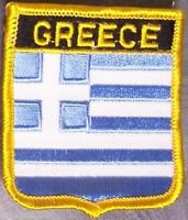 Embroidered International Patch National Flag of Greece NEW bunting