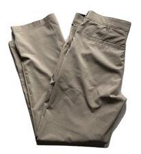 IZOD Men's 33x32 Golf Performance Flat Front Classic Stretch Dress Pants