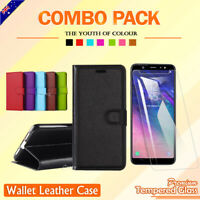 For Samsung Galaxy A6 Plus A6+ 2018 Wallet Case PU Leather Card Flip Case Cover