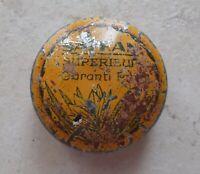 Ancienne boite Métal Safran Superieur Garanti Pur Collection Tin Box France