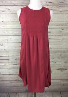 Knox Rose Women's Dusty Rose / Red Smocked Lace Sleeveless Shift Dress Size XS