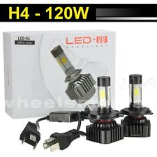 2x 120W H4 9003 LED Headlight Light Hi/Low 12000LM White Beam Car Upgrade Bulbs