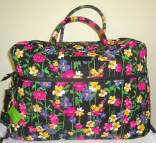 Vera Bradley GRAND TRAVELER WILDFLOWER GARDEN Weekender Duffel Travel Bag NWT