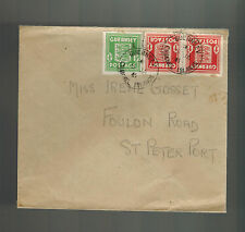 1945 Guernsey Channel Islands Occupation Cover to St Peter Port Irene Gosset