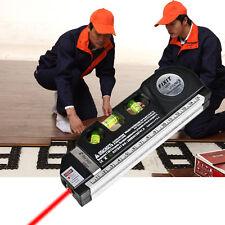 Laser Level Horizon Vertical Measure 8FT Aligner Standard and Metric Ruler#OW