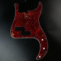 Custom Precision Bass PB style bass Guitar Pickguard 13 Hole ,4ply Red Tortoise