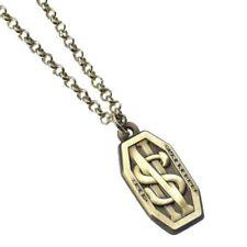 Versilberte Modeschmuck-Halsketten Messing