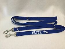 Just Pawfect embroidered Double Ended Dog Lead