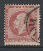 Norway - 1856, 8sk Lake stamp - G/U - SG 10