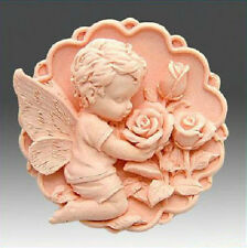 Hot Silicone Angel 3D Baby Moulds Handmade Soap Molds Resin Flexible Candle Mold