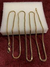 10 kt yellow gold 2.6 Grams franko chain lobster lock 1.5mm scrap or wear