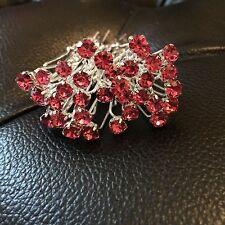 6 WEDDING Prom DASTY cristallo rosa e Diamante Capelli Pin Grip Clip