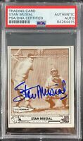 Stan Musial auto card TCMA #26 1980 St. Louis Cardinals PSA Encapsulated