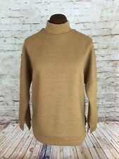 JOA Los Angeles Womens Camel Cold Shoulder Sweater Sz M Stand Collar Sweatshirt