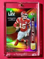 Patrick Mahomes TITLE WAVES REFRACTOR INSERT DONRUSS ELITE 2020 CHAMPION CHIEFS!