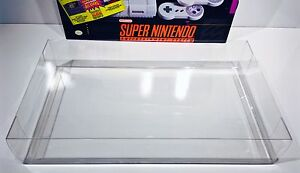 1 Console Box Protector For SNES SUPER SET   Super Nintendo Display Case Boxes