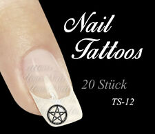 Nail Art Pentagramm Hexe Tattoo 20St. TS- 12
