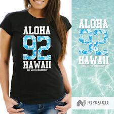 Damen T-Shirt Aloha Hawaii Summer Palm Leafs Slim Fit Neverless®