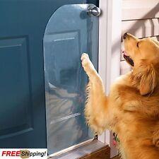 Pet Dog Cat Door Scratch Protector Shield Guard Puppy Clear Cover Prevents Hang