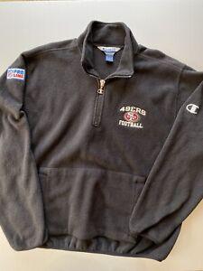 Vintage 90s Champion Pro Line San Francisco 49ers Black Fleece NFL Team Jacket