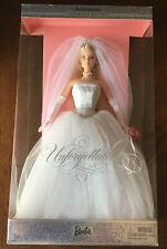 """Unforgettable Barbie Wedding Doll 2004 BLONDE """"BRAND NEW"""" David's Bridal Exclus"""