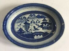 Circa 1800's Canton Serving Dish Blue White