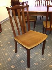 4no Solid Brazilian Mahogany Dining Chairs / Timber