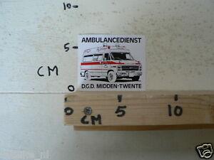 STICKER,DECAL AMBULANCEDIENST D.G.D. MIDDEN-TWENTE CHEVROLET ? CAR AUTO