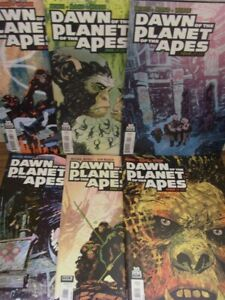DAWN OF THE PLANET OF THE APES 1-6 A BOOM COMIC SET COMPLETE MORECI 2014 NM