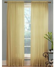 "Miller Curtains Sheer Angelica Voile 59"" x 84"" Window Curtain Panel - Desert"