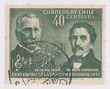 (CH359) 1947 Chile 40c green E. LILLO &R. Carnicer