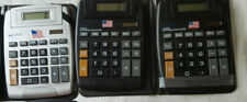 3 Calculators Big Button Lcd 12 Digit Display Solar or Battery Power 2 w/ Cases