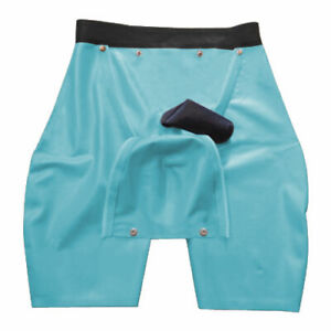 100% Pure Latex Rubber Boxer Shorts knickers Pants Buttons polishing  S-XXL