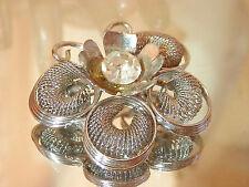 Beautiful Vintage 60's Silver Tone Crystal Rhinestone Butterfly Brooch 296jn7