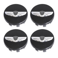 "4PC Black Wings Wheel Center Hub Caps for Genesis Coupe 18"" 19"" Wheel Cover New"