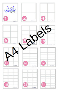 A4 Self Adhesive Labels Blank for Laser and Inkjet Printers Please choose size
